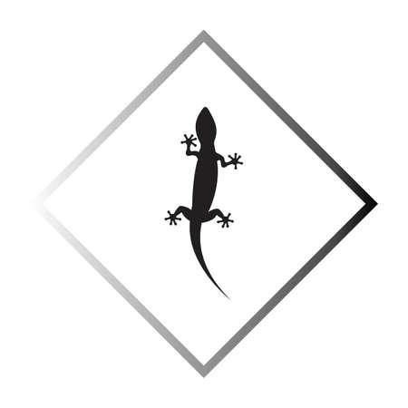 Lizard vector icon logo and symbols template - Vector Çizim