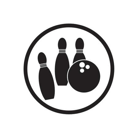 bowling icon graphic design template illustration vector