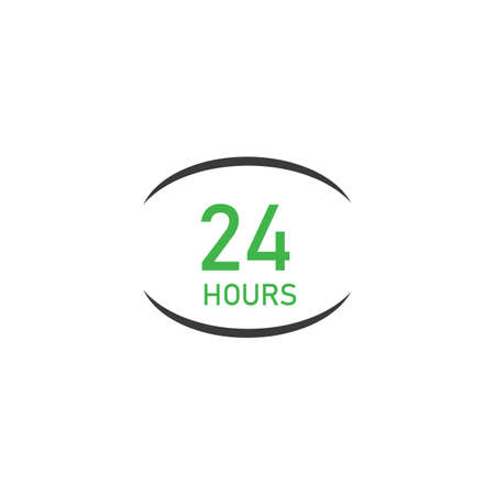 twenty four hours icon,