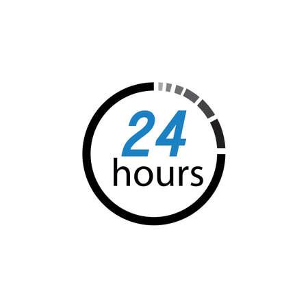 twenty four hours icon,24 hours vector icon