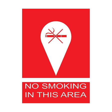 No Smoking Icon Vector Logo Template Illustration Design Illusztráció