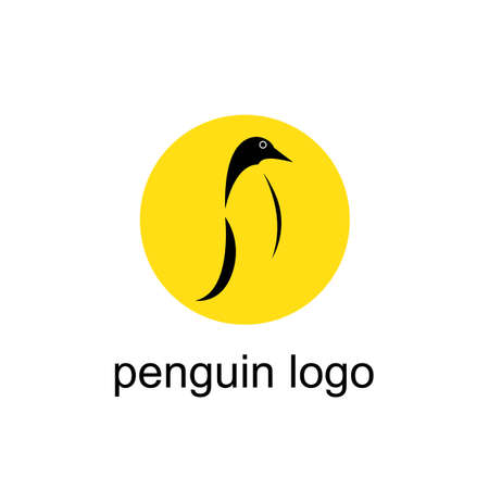 penguin bird vector logo, arctic animal symbol Stock Illustratie