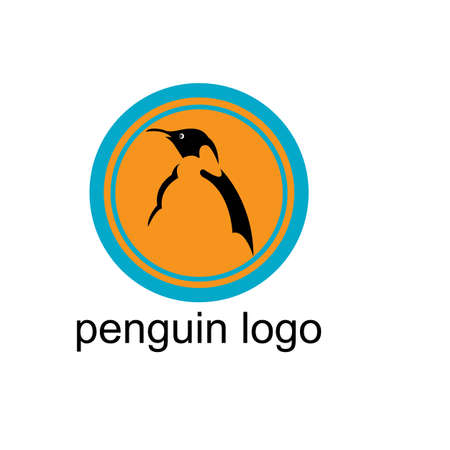 penguin bird vector logo, arctic animal symbol Illustration