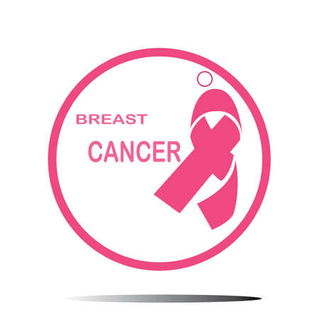 Breast Cancer Awareness Ribbon icon Vector illustration design template