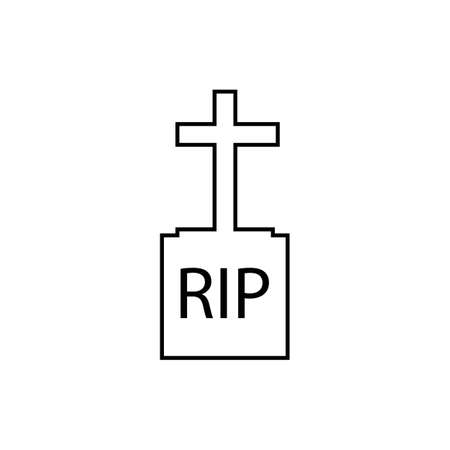 christian cemetery icon vector illustration design template