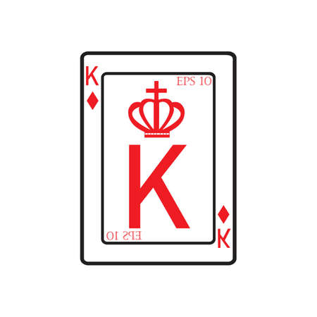 playing card Vector Icon illustration design template