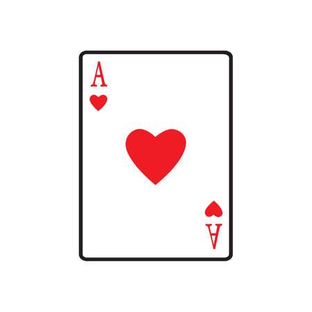 carta da gioco creativa vettore icona illustrazione modello di progettazione isolato sfondo bianco