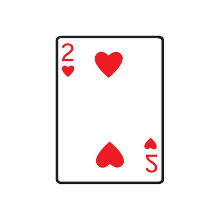 creative playing card Vector Icon illustration design template isolated white background