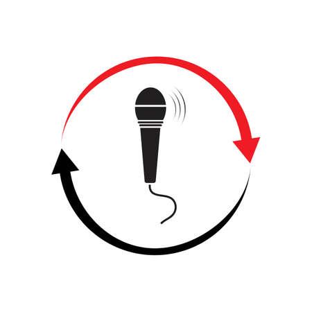 Microphone icon graphic design template illustration vector
