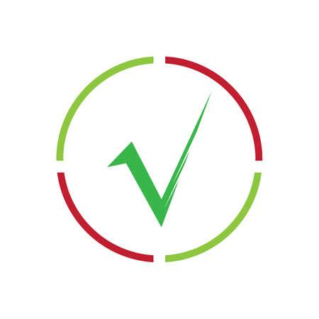 check mark icon vector illustration design template Ilustração