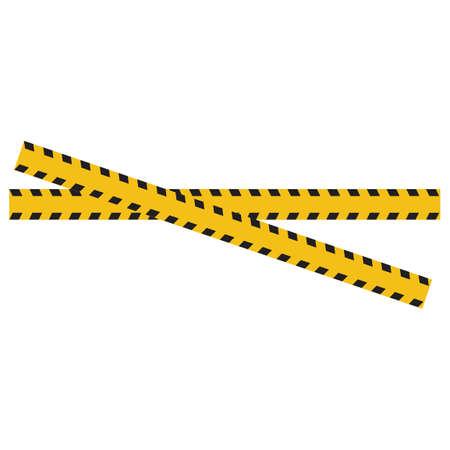 Black and yellow police stripe Vector illustration design Foto de archivo - 138340370