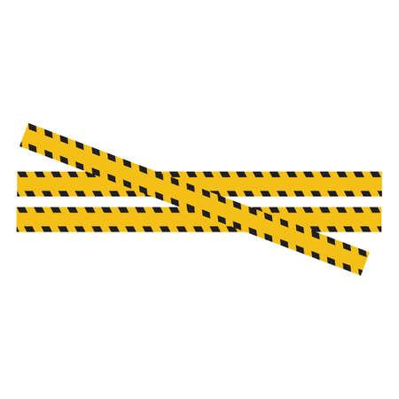 Black and yellow police stripe Vector illustration design Foto de archivo - 138340384