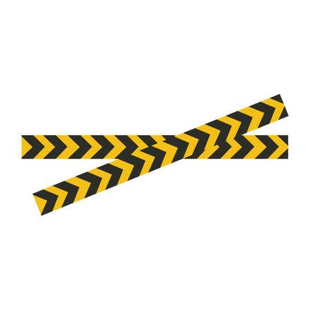 Black and yellow police stripe Vector illustration design Foto de archivo - 138340397