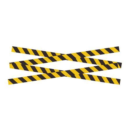 Black and yellow police stripe Vector illustration design Foto de archivo - 138340399