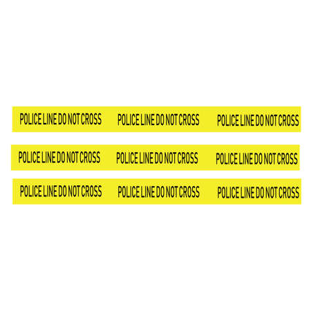 Black and yellow police stripe Vector illustration design Foto de archivo - 138340405