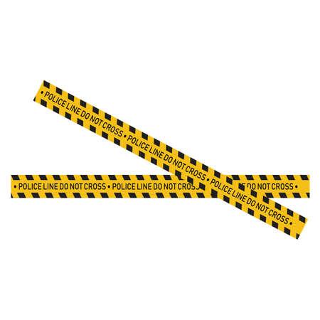 Black and yellow police stripe Vector illustration design Foto de archivo - 138340407