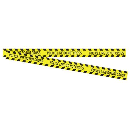 Black and yellow police stripe Vector illustration design Foto de archivo - 138340410