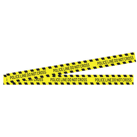 Black and yellow police stripe Vector illustration design Foto de archivo - 138340411