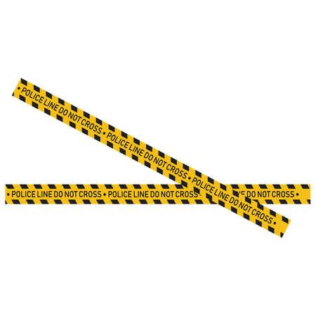 Black and yellow police stripe Vector illustration design Foto de archivo - 138340412