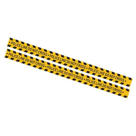 Black and yellow police stripe Vector illustration design Foto de archivo - 138340597