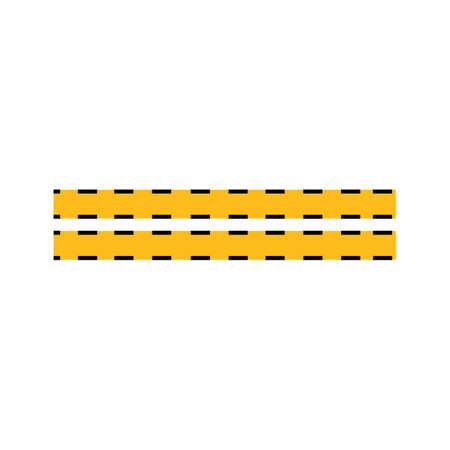 Black and yellow police stripe Vector illustration design Foto de archivo - 138340602