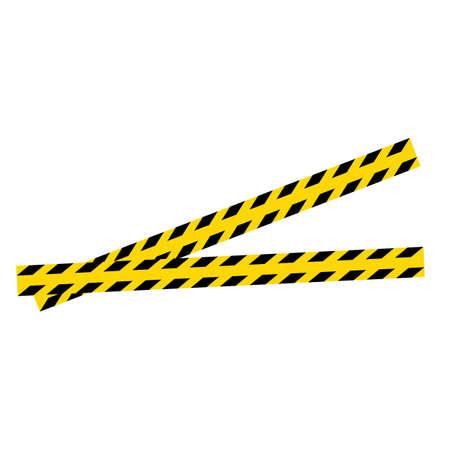 Black and yellow police stripe Vector illustration design Foto de archivo - 138340605