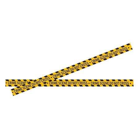 Black and yellow police stripe Vector illustration design Foto de archivo - 138340619