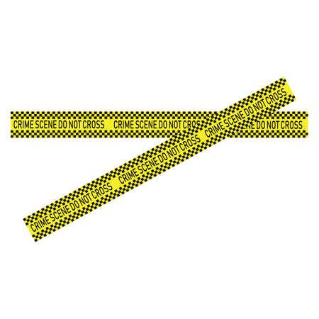 Black and yellow police stripe Vector illustration design Foto de archivo - 138340620