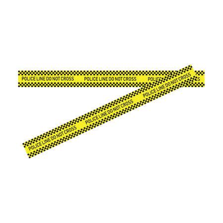 Black and yellow police stripe Vector illustration design Foto de archivo - 138340622