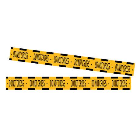 Black and yellow police stripe Vector illustration design Foto de archivo - 138340625