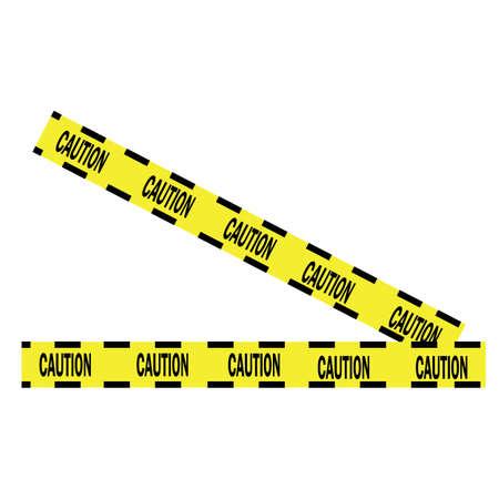 Black and yellow police stripe Vector illustration design Foto de archivo - 138340691