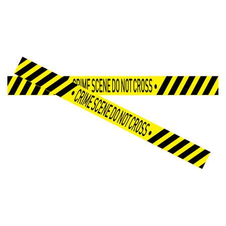 Black and yellow police stripe Vector illustration design Foto de archivo - 138340705