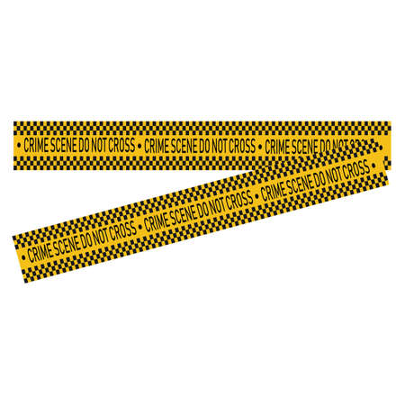 Black and yellow police stripe Vector illustration design Foto de archivo - 138340711