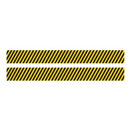 Black and yellow police stripe Vector illustration design Foto de archivo - 138340707