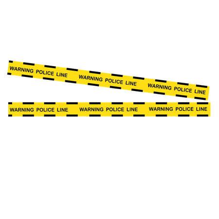 Black and yellow police stripe Vector illustration design Foto de archivo - 138340709