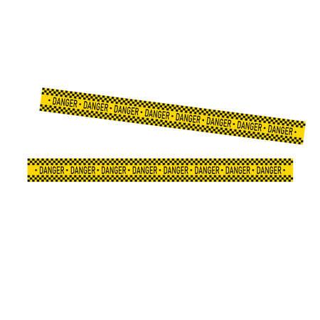 Black and yellow police stripe Vector illustration design Foto de archivo - 138340719