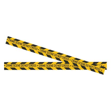 Black and yellow police stripe Vector illustration design Foto de archivo - 138340769