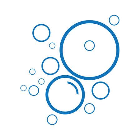 Bubble water vector illustration design template
