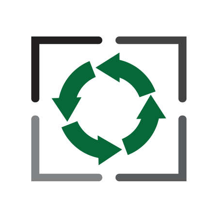 Recycle icon, Recycle icon vector, in trendy flat style Recycle icon image, Recycle icon illustration