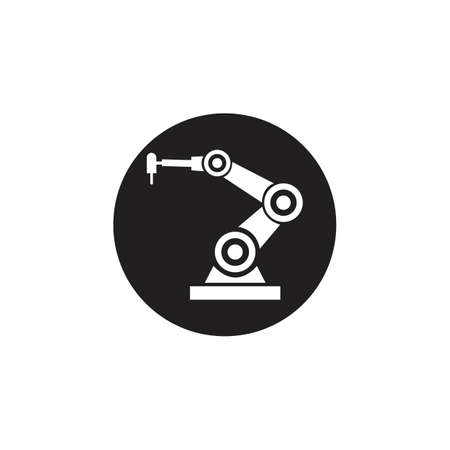 Industrial mechanical robot arm vector icons Vettoriali
