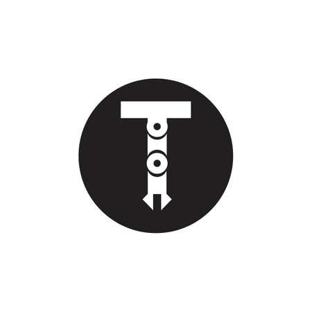 Icônes vectorielles de bras de robot mécanique industriel