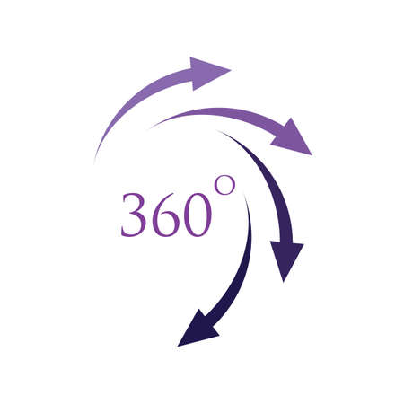 360 Degrees icon vector design template