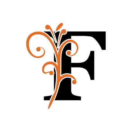 Conception d'illustration d'icône de vecteur de lettre F