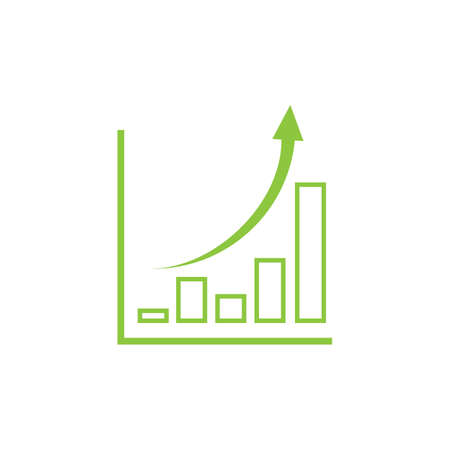 wachsende Grafik Symbol Vektor Illustration Design-Vorlage Vektorgrafik