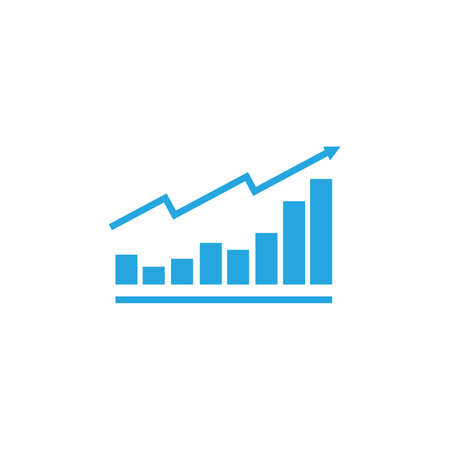 growing graph icon vector illustration design template Ilustrace
