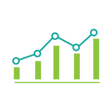 growing graph icon vector illustration design template 向量圖像
