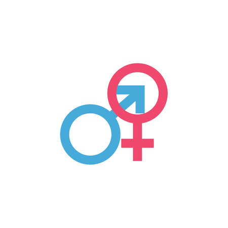 male and female Gender Sign Symbol Icon Vector Illustration
