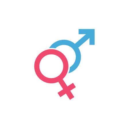male and female Gender Sign Symbol Icon Vector Illustration Illustration