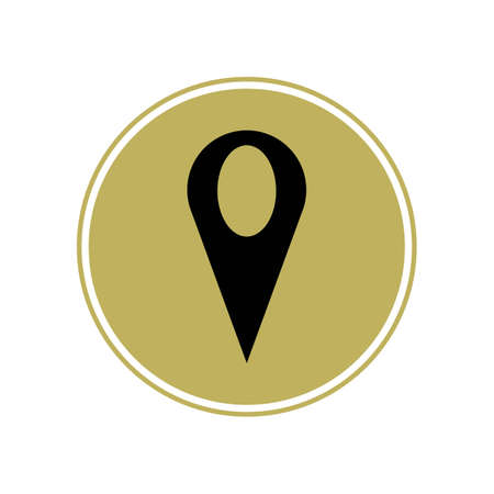 map point location pin vector icon for mapping and satellite allocation Illustration