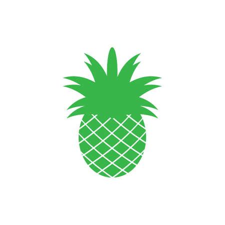 Ananas-tropische Frucht-Vektor-Illustration. Ananas-Logo-Vorlage-Vektor-Illustration